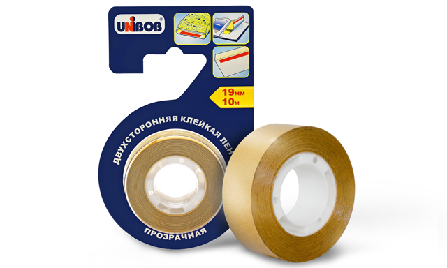 UNIBOB® transparent double-sided adhesive tape