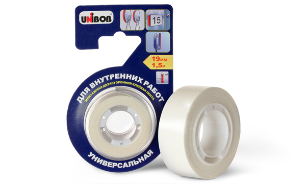 UNIBOB® double-sided adhesive tape for indoor work