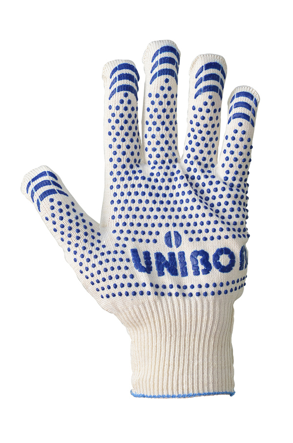 Cotton gloves with PVC coating UNIBOB, 13 class