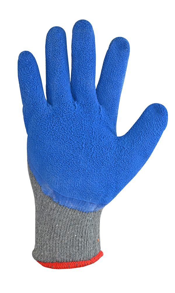 Acrylic gloves with foamed latex coating