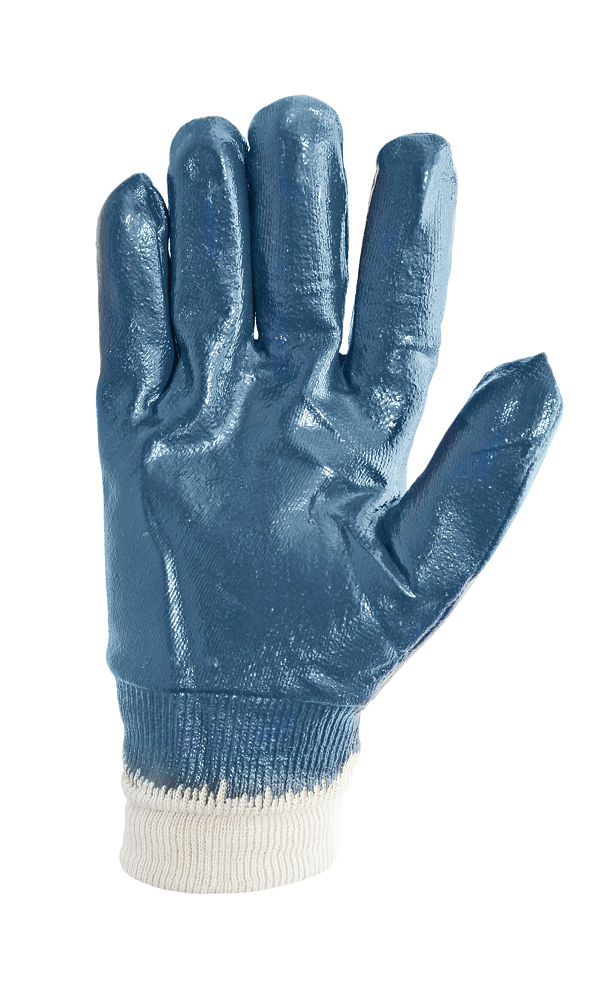 High-strength gloves with a double nitrile coating. Nitrile rubber