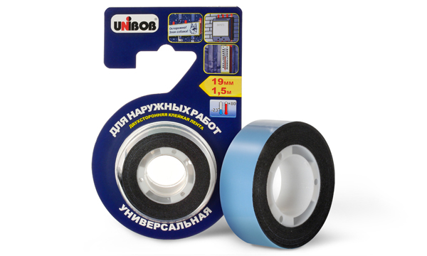 UNIBOB® double-sided adhesive tape for outdoor work