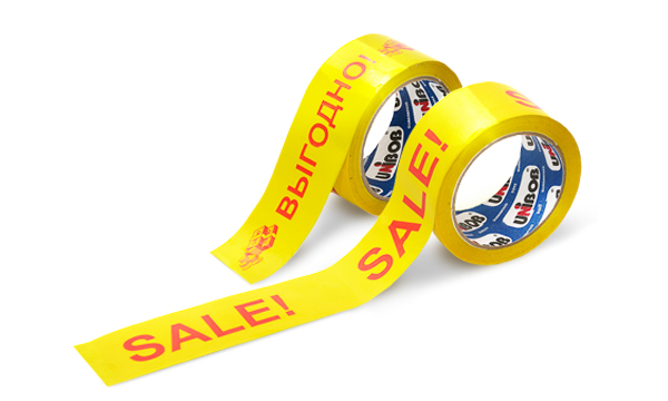 UNIBOB® printed adhesive tape – SALES PROMOTERS