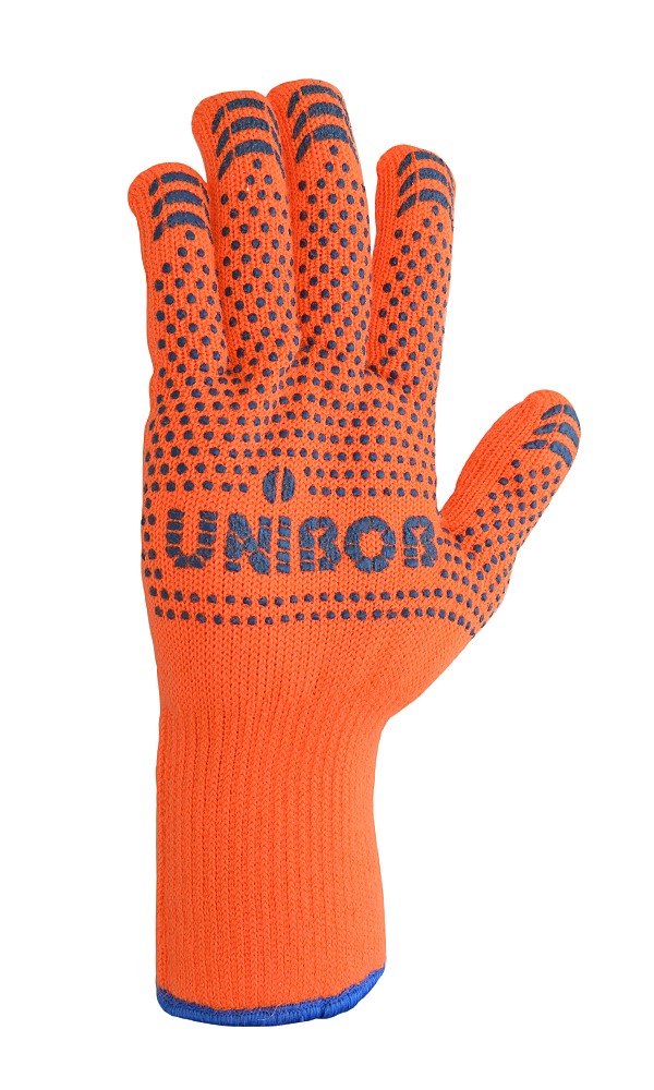 Heat-insulated gloves with PVC coating for work at low temperatures UNIBOB