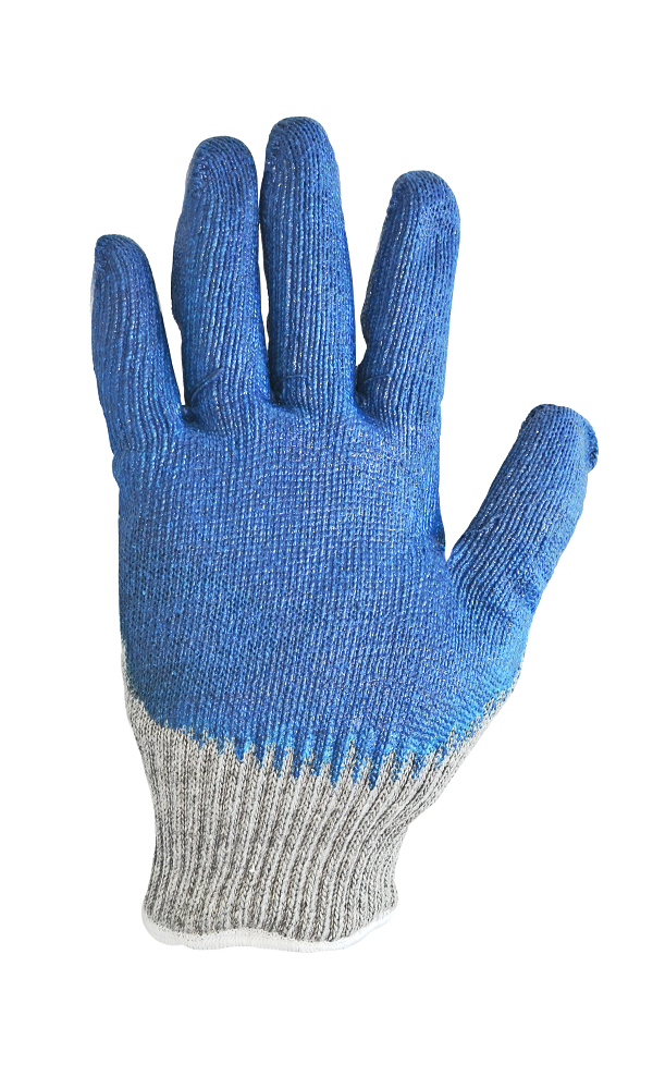 Cotton gloves with inner half wool inset and triple latex flow coating Metallurgist-WINTER